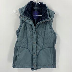 PrAna Gray athletic sherpa vest size Medium